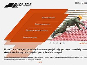 Prosta strona internetowa firmy Trans Dach